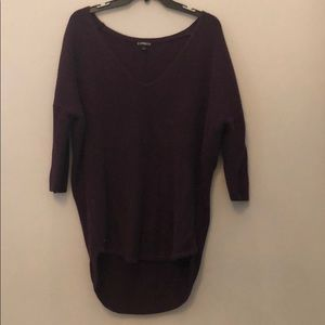 Express Purple Metallic London Sweater - M